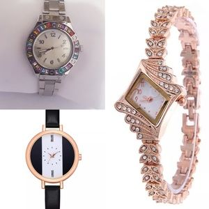 3 brand new women wrist watch